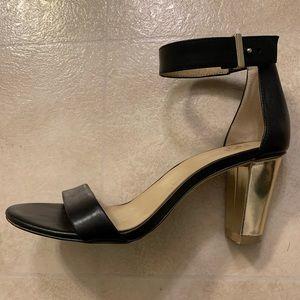 Ann Taylor Gold Block Heel